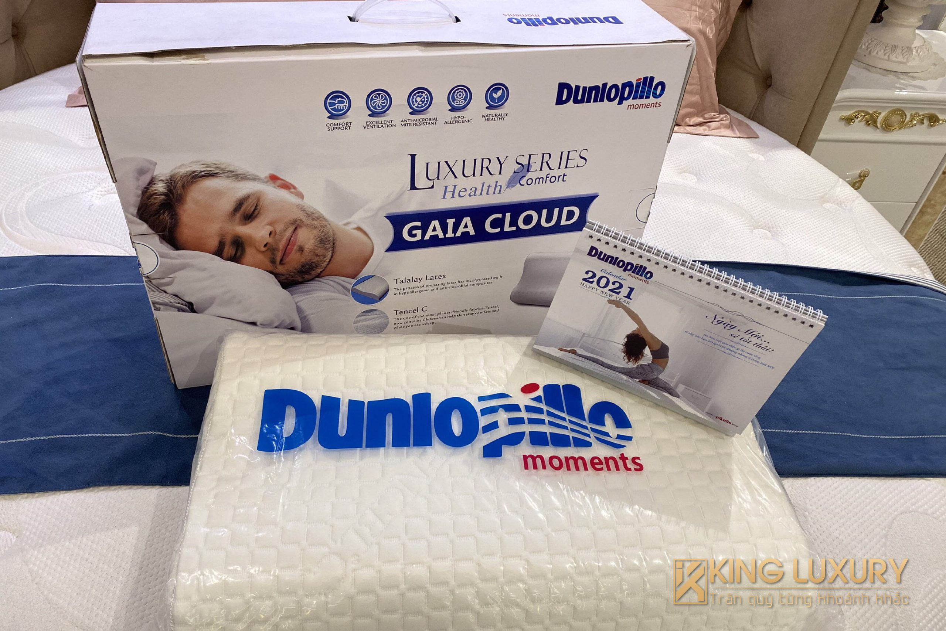 Gối cao su nhập khẩu Dunlopillo GAIA CLOUD